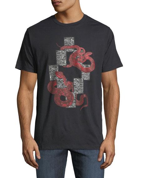 Marcelo Burlon Emerk Snake-Print Graphic T-Shirt