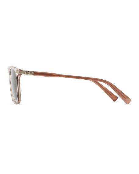 Salvatore Ferragamo Men's Thin Square Plastic Sunglasses