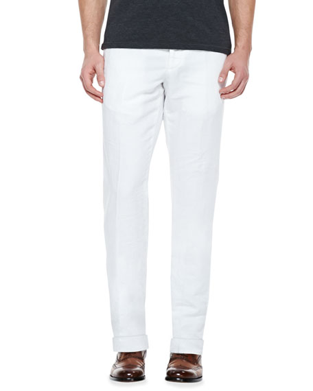 Incotex Chinolino Linen-Blend Trousers