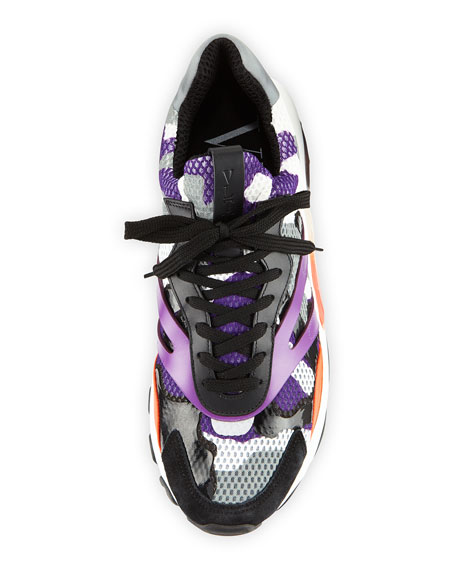 Men's Bounce Camo Leather Sneakers