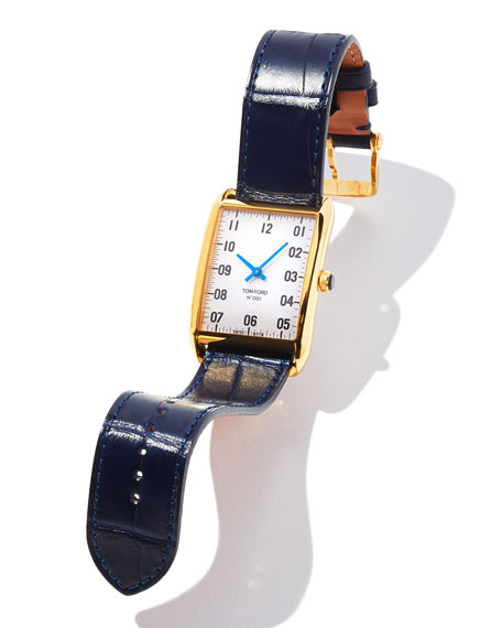 Image 3 of 3: TOM FORD TIMEPIECES 18k Gold Case, White Opaline Dial, Large