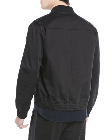Vince Men's Flap-Pocket Cotton Bomber Jacket