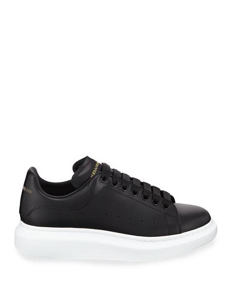 Alexander McQueen Men's Bicolor Leather Low-Top Sneakers