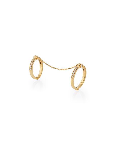 Borgioni Handcuff Chain 18k Gold & Diamond Ring, Sizes 5 & 7