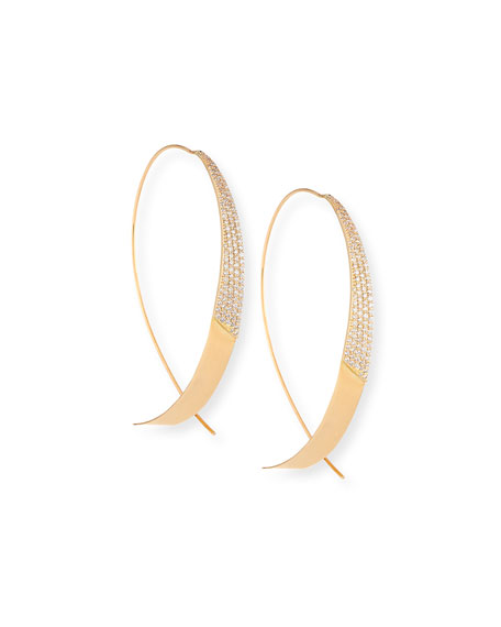 Legacy Upside Down Hoop Earrings with Diamonds