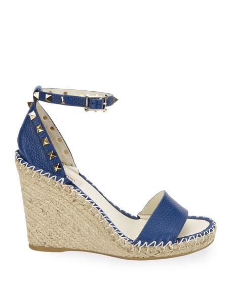 Rockstud Double Espadrille Wedge Sandal