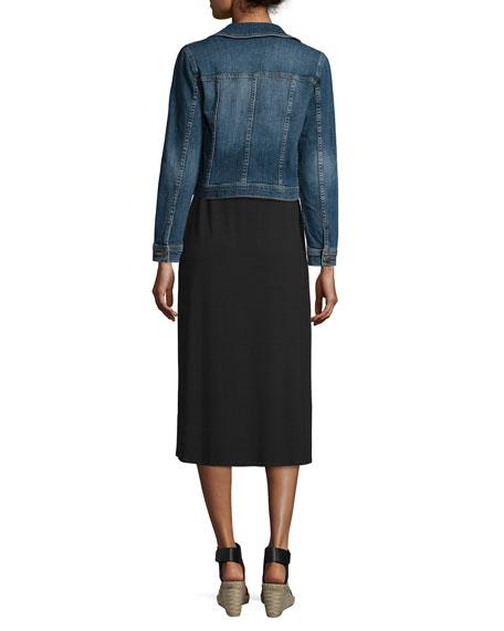 Eileen Fisher Denim Cropped Jacket, Petite