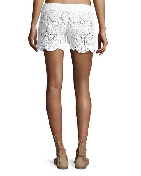 Crochet Tie-Waist Shorts