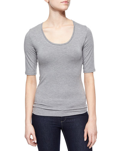 Soft Touch Half-Sleeve Top