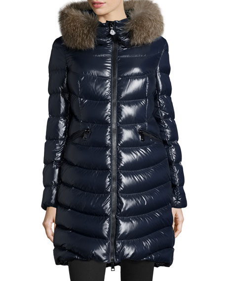 Aphia Hooded Puffer Jacket, Navy