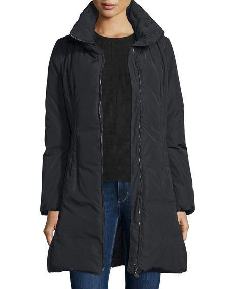 Renne Down Matte Coat, Black