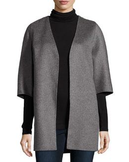 Double-Faced Cashmere Cocoon Coat