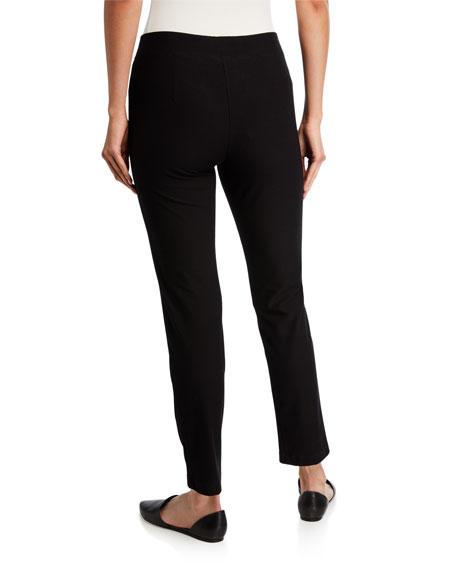 Washable Stretch-Crepe Slim Ankle Pants