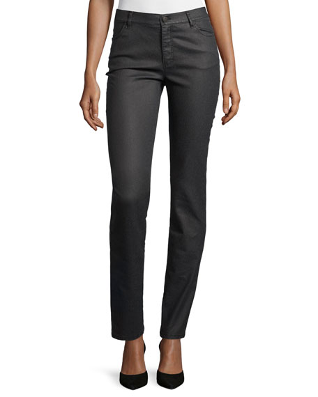 Lafayette 148 New York Thompson Curvy Herringbone Slim-Leg