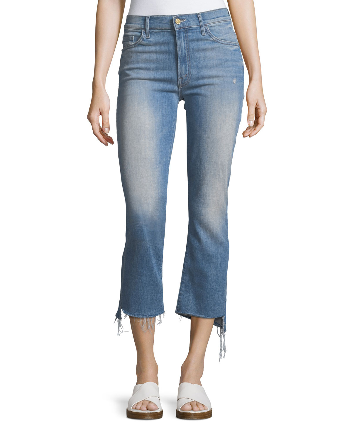 Best Place Cheap Price cropped side-stripe jeans - Red Mother Nicekicks Sale Online Buy Cheap Great Deals Buy Sale Online Visa Payment SxPE6