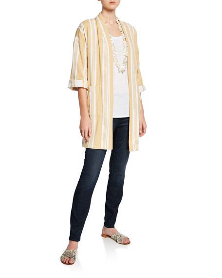 Eileen Fisher Organic Cotton Soft Stretch-Denim Leggings