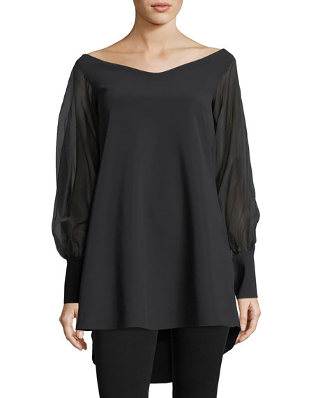 Chiara Boni La Petite Robe Kimama Off-the-Shoulder Organza
