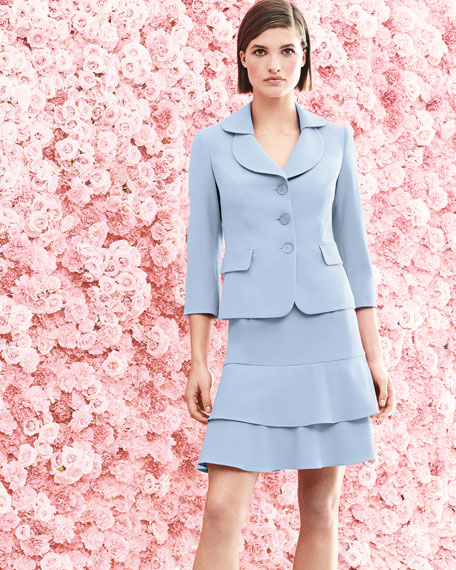 Topper Jacket & Tiered Skirt Set