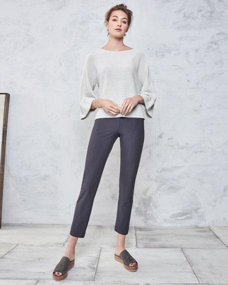 Washable Stretch-Crepe Slim Ankle Pants, Petite