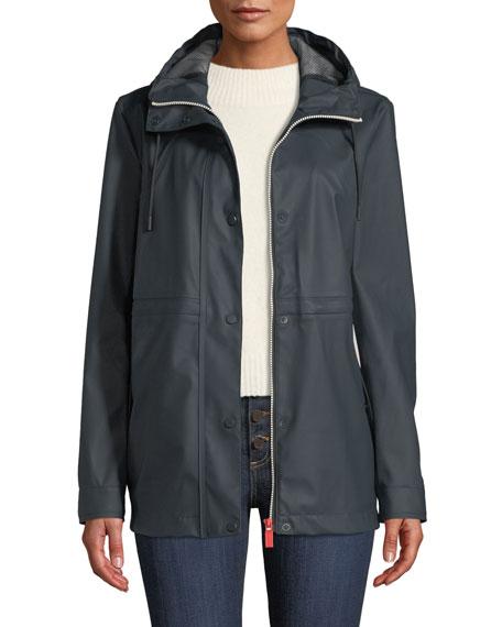 Hunter Boot Lightweight Rubberized Waterproof Rain Jacket