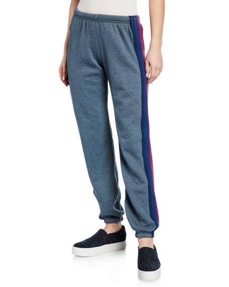 Aviator Nation 5 Stripe Sporty Jogger Sweatpants