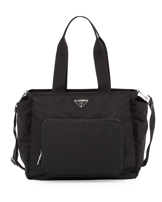 fc5f537c7be0b7 Prada Vela Nylon Baby Bag, Black (Nero) | Neiman Marcus