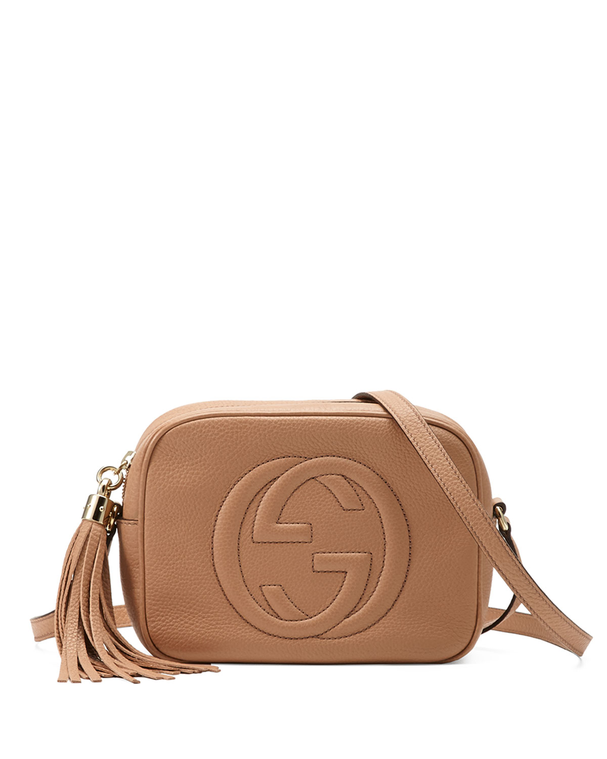 b10cc97dd2e1 Gucci Soho Small Shoulder Bag, Beige | Neiman Marcus
