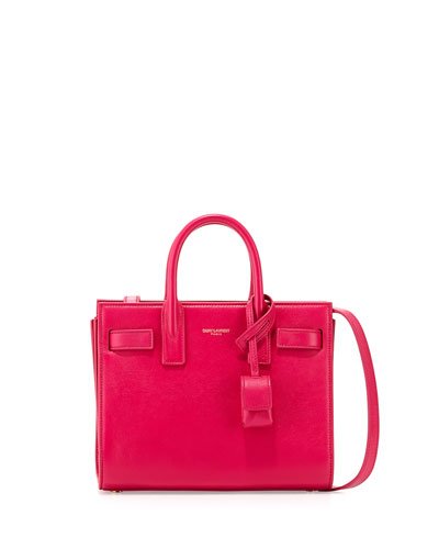 Saint Laurent Sac de Jour Nano Crossbody Bag Fuchsia<br />