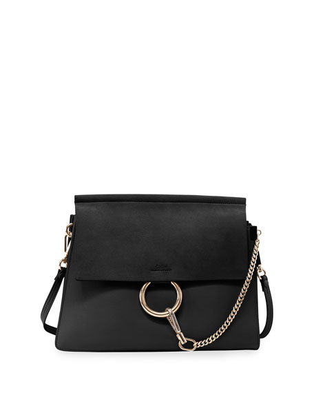 Image 1 of 3: Chloe Faye Suede-Flap Shoulder Bag