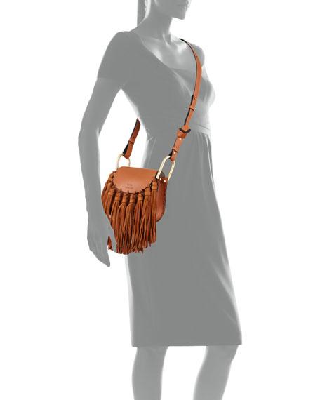 Chloe Hudson Mini Fringe Shoulder Bag, Caramel