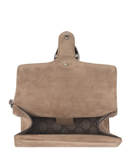 Gucci Mini Dionysus GG Supreme Shoulder Bag, Ebony/Taupe