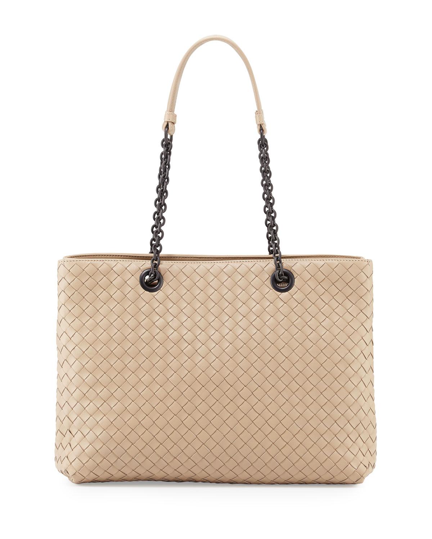 Bottega Veneta Intrecciato Medium Double-Chain Tote Bag  82e233e6b412a