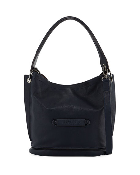 Longchamp Longchamp 3D Leather Crossbody Bag, Midnight Blue