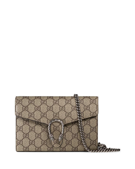 499933f70579 Gucci Dionysus GG Supreme Mini Chain Bag | Neiman Marcus