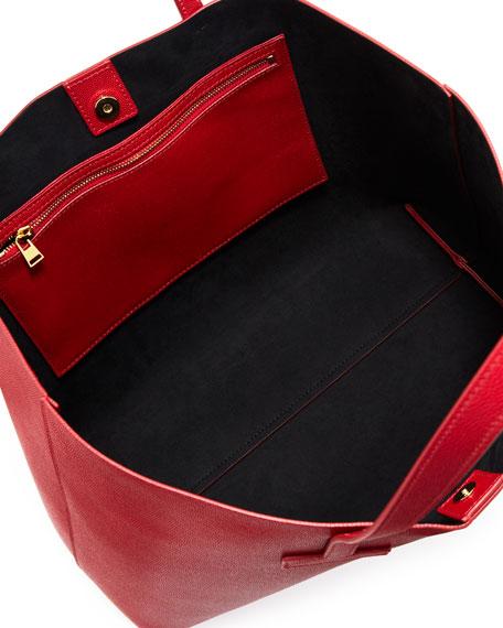 Medium Grained Leather Tote Bag