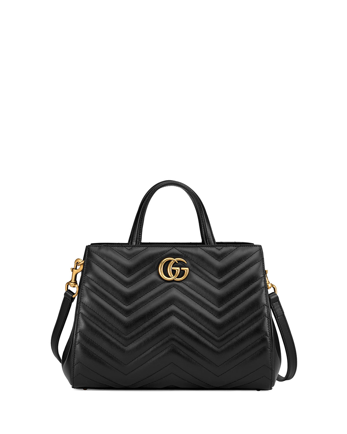 127b20a05ca Gucci GG Marmont Small Matelassé Top-Handle Bag