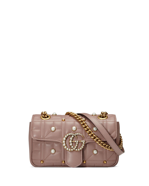 c0b36f1e00155e Gucci GG Marmont Pearly Matelassé Mini Bag | Neiman Marcus