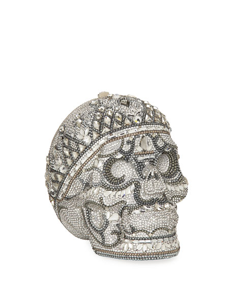 Image 1 of 3: Katerina Crystal Skull Clutch Bag