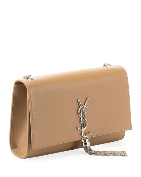 Kate Monogram Smooth Leather Chain Tassel Medium Shoulder Bag