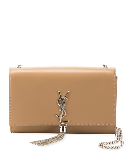 1feb31fa857 Saint Laurent Kate Monogram YSL Medium Chain Tassel Shoulder Bag ...
