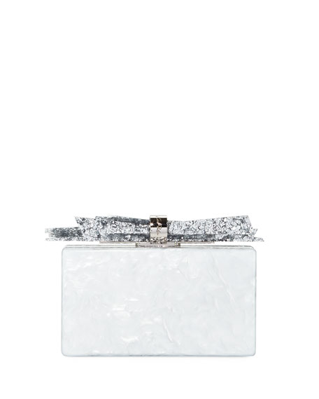 Edie Parker Wolf Acrylic Shard Clutch Bag