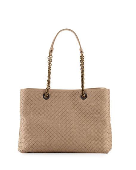 31c304839b15 Bottega Veneta Intrecciato Medium Double-Chain Tote Bag
