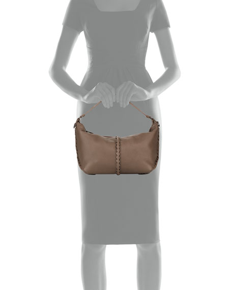 Bottega Veneta Cervo Medium Leather Shoulder Hobo Bag