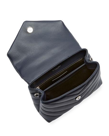 Loulou Monogram Mini V-Flap Calf Leather Crossbody Bag - Nickel Oxide Hardware