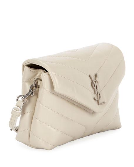 77311e91b Image 4 of 5: Saint Laurent Loulou Monogram YSL Mini V-Flap Calf Leather