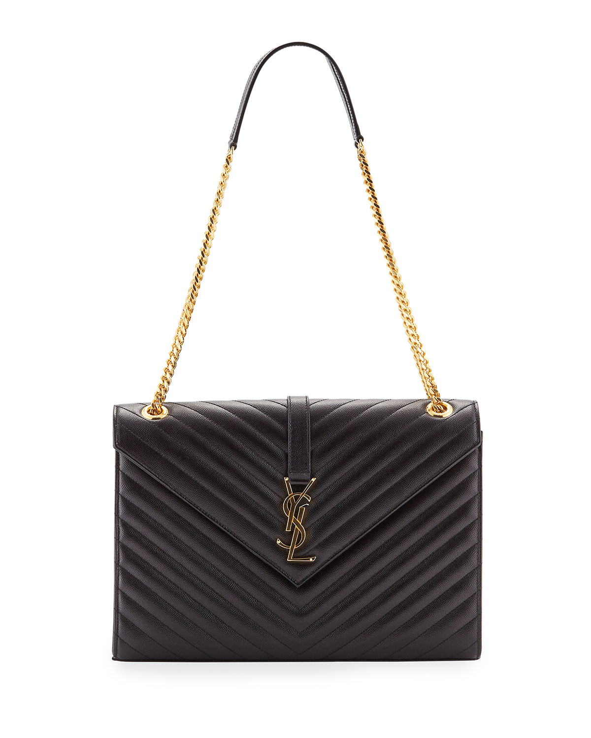 Saint Laurent V Flap Large Monogram Ysl Envelope Chain