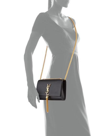 Saint Laurent Kate Monogram YSL Small Tassel Shoulder Bag with Golden Hardware