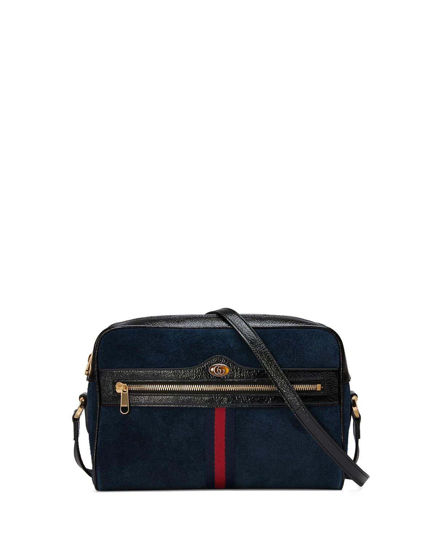 85aac836d95f Gucci Ophidia Medium Suede Camera Crossbody Bag   Neiman Marcus