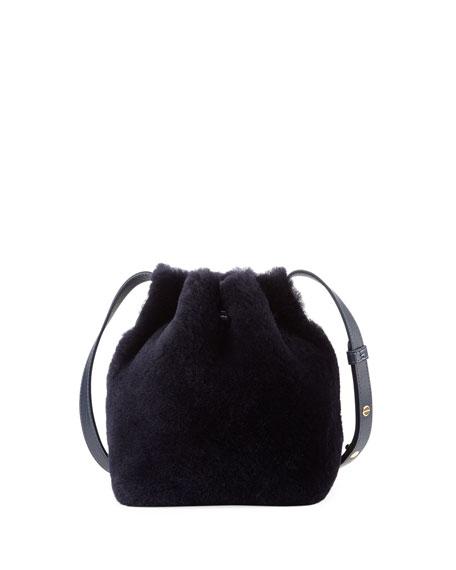 Mansur Gavriel Mini-Mini Shearling Bucket Bag