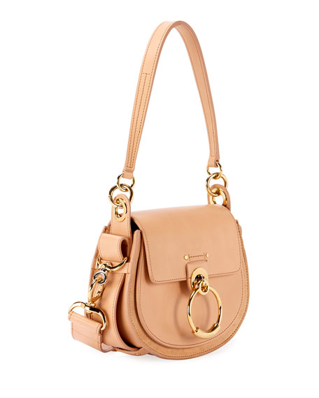 Image 3 of 6: Chloe Tess Small Leather/Suede Camera Crossbody Bag